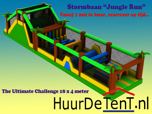 Stormbaan Jungle Run - HuurDeTenT.nl